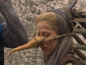 "Connie Booth as the witch from ""Monty Python and the Holy Grail."""