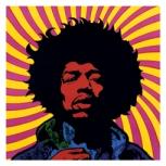 Psychelic artwork of Jimi Hendrix