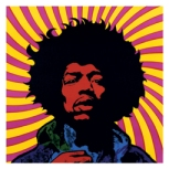 Psychelic artwork of Jimi Hendrix
