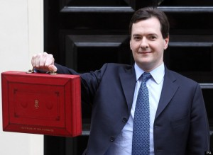 George Osborne, Chancellor of the Exchequer.That's a mighty big case just to carry a resignation letter! :P