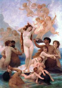 Aphrodite, accompanied by her nymphs.