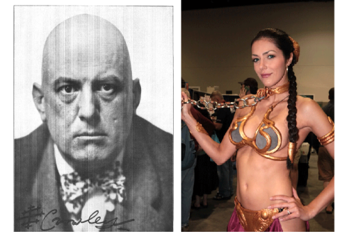 Aleister Crowley  and Adrianne Curry